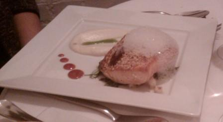 Yes, that's foam on my salmon.