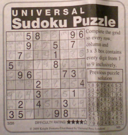 I can't proceed with my day if I don't do the morning Sudoku.