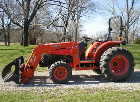 One of the tractors