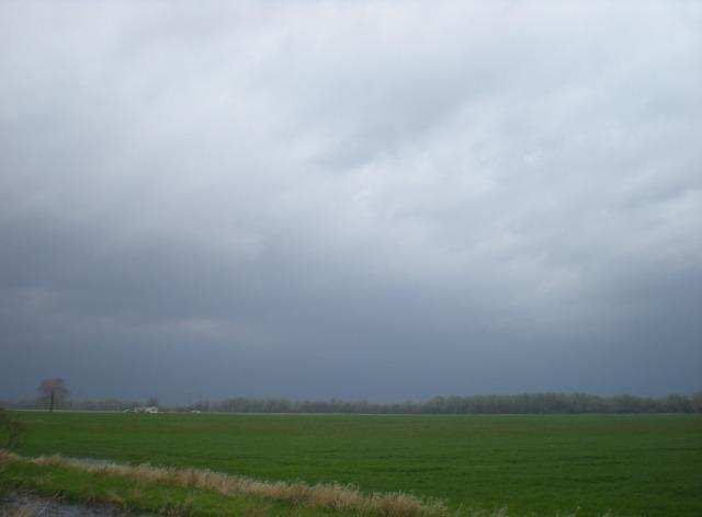 Stormy sky on the Kansas river bottom