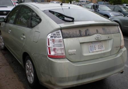 Filthy car
