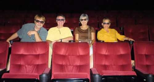 Friends at the theater in 3-