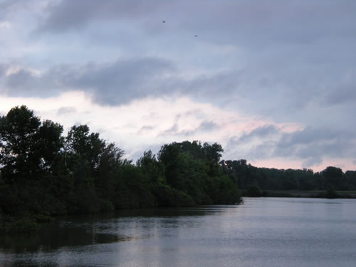 Stormy sky over Lakeview in the early morning