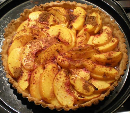 I had to take a picture of this peach tart, because it's part of the yellow season too.