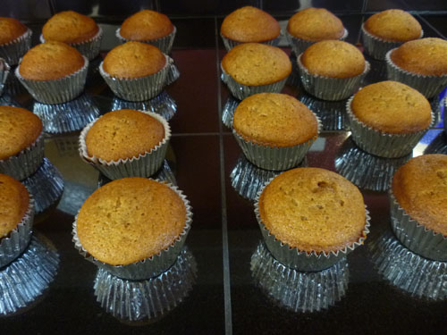 Baking pumpkin gourds.  Making pumpkin filling.  Baking pumpkin muffins. A transforming Sunday morning.