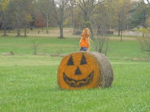 Hay Bale Pumpkin