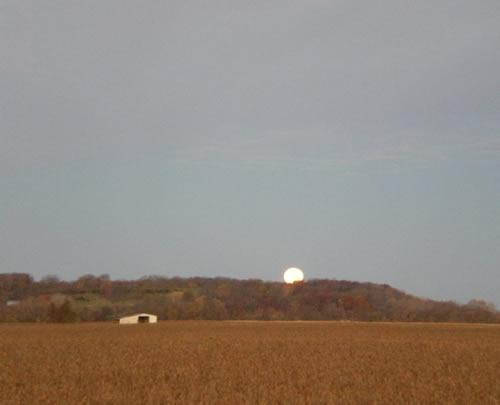 Morning moon over the ridge