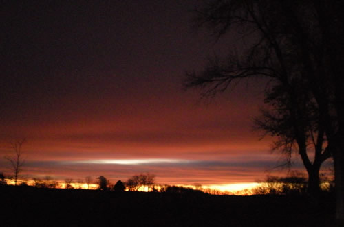 Sunrise after a morning walk
