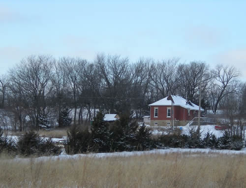 Red school house in the country