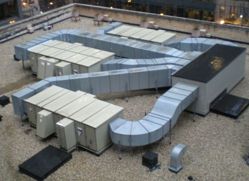 Roof --level airconditioning units