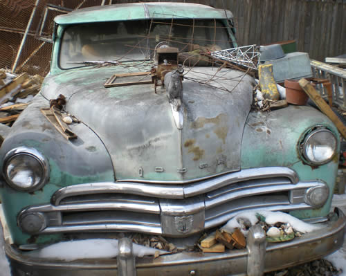 abandoned Dodge car