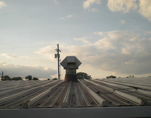 Shed roof from train window