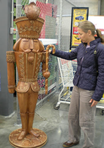 human-size wooden soldier nutcracker