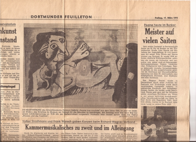 The stuff I keep!  Here I am, in Dortmund, Germany 41 years ago.  Hitchhiking through Europe on my honeymoon, Louie and I stayed with our friends, Klaus and Barbel.  Louie and Jim Brothers met Klaus and Barbel when they careened through Europe in 1968.  Barbel is coming to visit us here in Lawrence, Kansas next month.